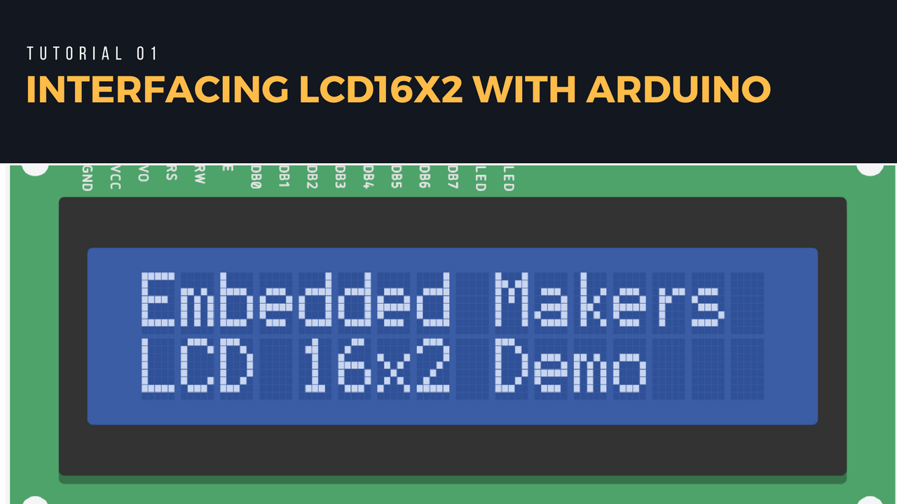 Interfacing LCD16x2 with Arduino (AVR Atmega328P)